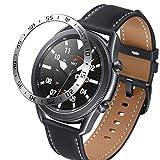 DXFFOK Per Samsung Galaxy Watch 3 41mm 45mm frontiera Orologio Anello Anello Anello Copertura Adesivo AntiGraffio Anello Intelligente Orologio Accessorio (Band Color : Silver, Band Width : 41mm)
