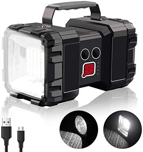 Linterna de Camping Recargable, 10000mAh 40W 3 en 1 Lampara LED Impermeable Alta Potencia, Linterna portátil USB para campin, Senderismo, Ciclismo, Pesca