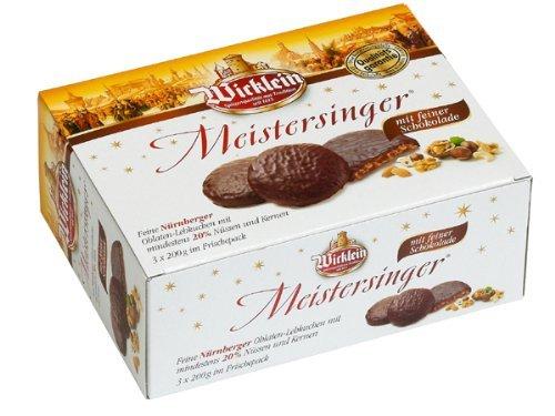 Wicklein Meistersinger Oblaten-Lebkuchen Box 600g