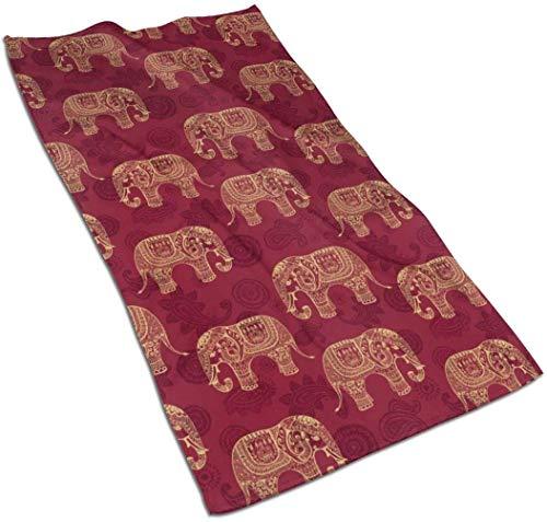 VLOOQ-HX Elefantes Indios Toallas de Mano de Fibra extrafina Toalla de Playa Ultra Suave Toalla de baño para Piscina para niños, niños, niñas y Adultos