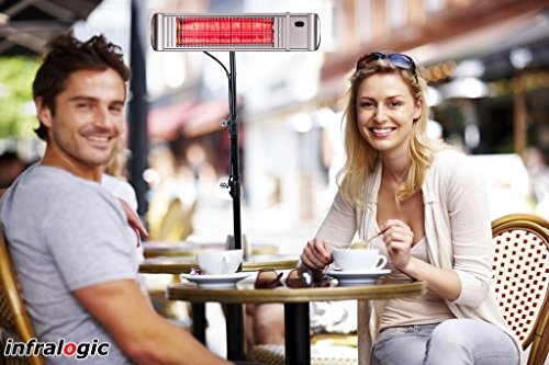Infrarotstrahler HeizMeister LuXus Professionell silber, steuerbar über Smartphone oder Fernbedienung - 4