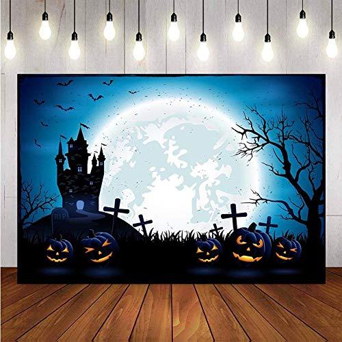 Hintergrundtabelle Halloween Horror Kürbis Spukhaus Vollmond Fledermaus Dekoration Hintergrundfoto Vinyl Fotografie Hintergrund Urlaub Photo Booth Hintergrund Hintergrundaufnahmen Neugeboren