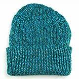 ニット帽 ニット ニットキャップ ニットワッチ ワッチ ミックスカラー カラフル イタリアンニット 秋冬 フリーサイズ ブルー