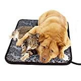 Pet Heating Pad,Dog Cat Electric Heating Pad,Waterproof Adjustable Warming Mat,Anti Chew Cord Low Voltage,(45 cmx 45cm+UK plug)