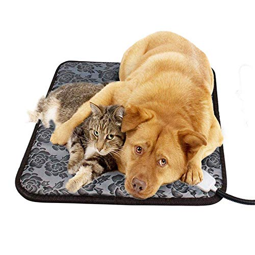 Pet Heating Pad,Dog Cat Electric Heating Pad,Waterproof Adjustable Warming Mat,Anti Chew Cord Low Voltage,(45 cmx 45cm+UK plug)