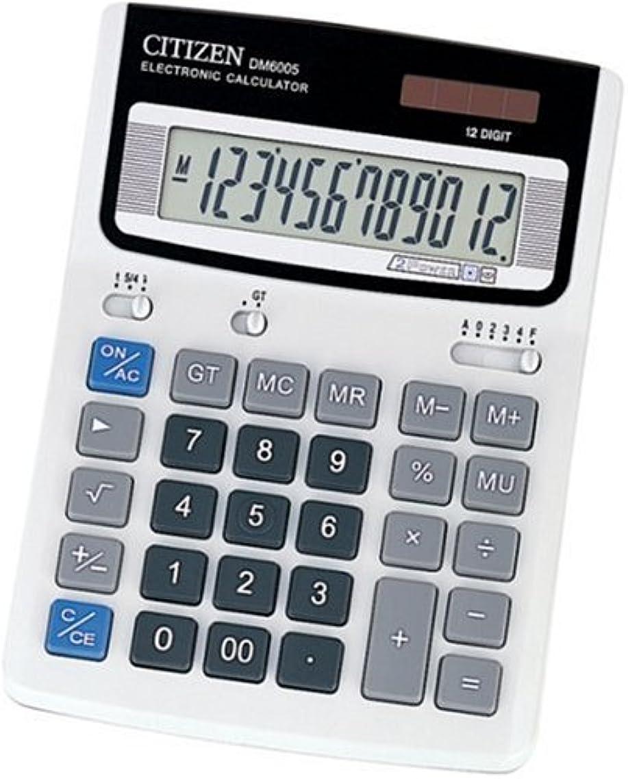 巨大悪性の粘り強いシチズン デスクトップ型電卓(12桁表示) DM6005Q