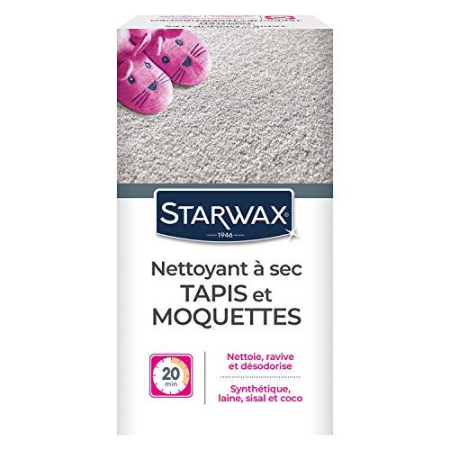 STARWAX Nettoyant à Sec pour Tapis et Moquettes - 500g - Idéal pour Nettoyer à Sec des Tapis et Moquettes