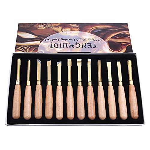 12 PCS Cuchillo de Talla de Madera Cuchillo Cuchillo Cuchillo de Escultura Herramientas de la Mano de Las gubias de la Madera para la Herramienta de Bricolaje de Corte de Madera básica