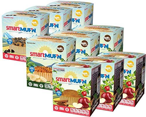 Smart Baking Company Smartmuf'n, Gluten-free, Sugar-free Keto Snack Breakfast Muffin (Variety, 27 Muffins)