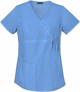 قميص مناسب للحوامل العاملات في المجال الطبي بقصة ملتفة من شيروكي
