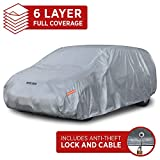 Motor Trend TrueShield Waterproof SUV & Van Cover - Heavy Duty Outdoor Fleece-Lined Sonic Coating - Ultimate 6 Layer Protection - Cover Lock Included (XXL - max Length 225')