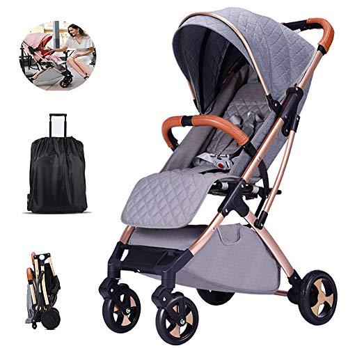Standard Kinderwagen-Buggys Für Kinder (0-36 Monate) Kompakter Und Leichter Buggy Travel Light 5-Punkt-Gurt,Grau