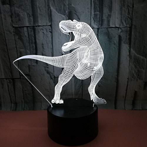 Veilleuse Safety First 3D Animal Dinosa 7 Couleurs Tactile Lampe De Chevet Chambre Table Art Déco Enfant Lumière De Nuit Avec Câble Usb Nouveauté De Noël Cadeau D'Anniversaire
