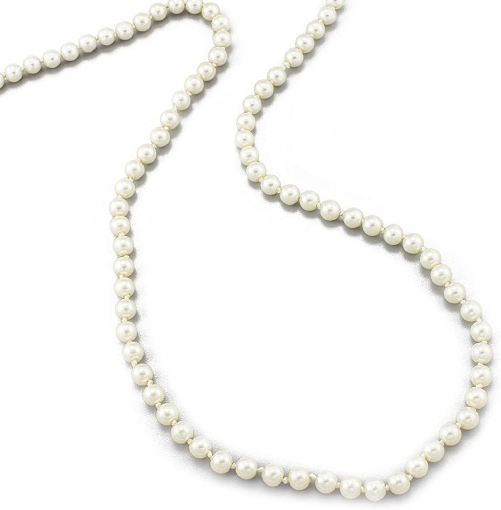 Womens Jewelry Long Pearl Strand Necklace 24