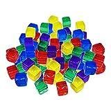 Sharplace 100pcs 10mm Coloridos Dados Juegos de Mesa Cubo para Juguetes de Fiesta KTV - Multicolor