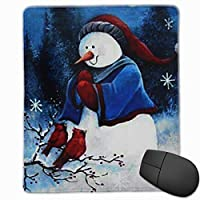マウスパッド メリークリスマス スノーマン ゲーミング オフィス最適 高級感 おしゃれ 防水 耐久性が良い 滑り止めゴム底 ゲーミングなど適用 マウスの精密度を上がる( 22*18*0.3cm )