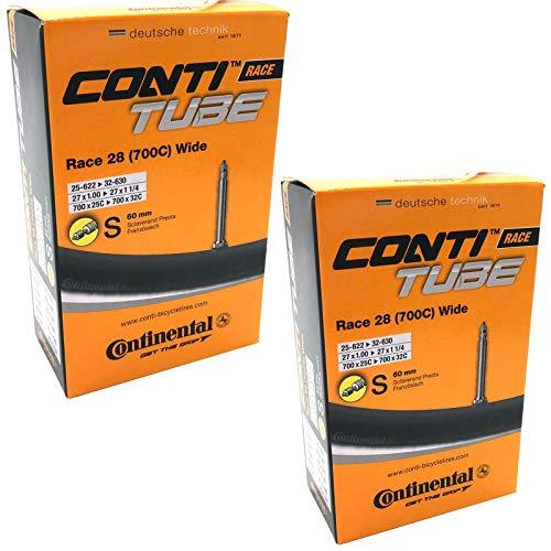 Continental Race 28 700 x 25-32c Bike Inner Tubes with Presta 60mm Valve (Pair)