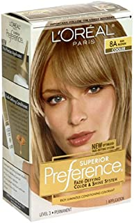 Superior Preference Rich Luminous Conditioning Colorant, Level 3 Permanent, Ash Blonde/Cooler 8A (Pack of 3)