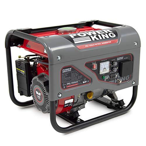 PowerKing 1100w Petrol Generator 3HP 4-Stroke 230V Quiet Compact Recoil Heavy Duty 2 Year Guarantee