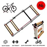 KFMJF Foldable Bike Rollers Trainer - Bicycle Training Bracket Trainer MTB Road Cycling