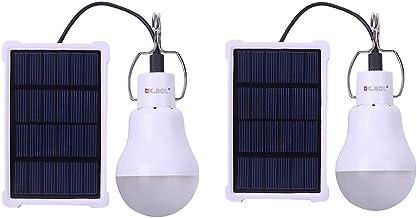 KK.BOL Solar Lamp Portable LED Light Bulb Solar Panel Powered Rechargeable Solar Led Lights Lamp for Home Light Indoor Out...