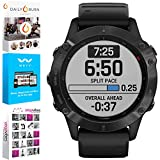 Garmin 010-02158-01 Fenix 6 PRO Multisport GPS Smartwatch Black with Black Band Bundle with Tech Smart USA Fitness and Wellness Suite Includes Altair Weyv, Yoga Vibes and Daily Burn