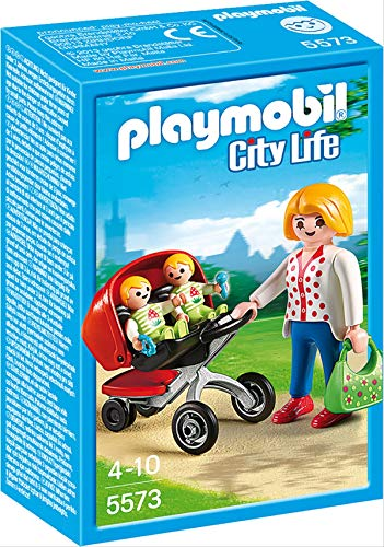 PLAYMOBIL 5573 Mother with Twin Stroller Kleidung FÜR Puppen, Bunt