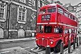 Vacio Rompecabezas para Adultos 3D Puzzle 1000 Piezas London Bus Rompecabeza Art DIY Ocio Juego Juguete Decoración Hogar