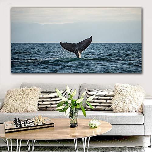 GoldLife zeegezicht canvas schilderij woondecoratie muur kunststaart schilderij foto voor woonkamer artwork50X100CM No Frame