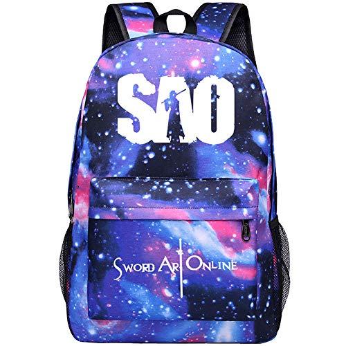 Anime Rucksack Sword Art Online Cosplay Jungen Mädchen Outdoor Rucksäcke Reise Rucksack Anime Daypack Schulter Schultasche Laptop Tasche