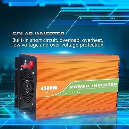 J-Love Inversor de energía de Onda sinusoidal de 4500 W, Voltaje de Salida del inversor de CC de CA de energía Solar de Alta frecuencia 110 V con Control de Temperatura Inteligente