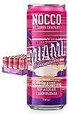 NOCCO BCAA Miami sabor fresa 24 latas x 330ml Bebida energética funcional sin azúcar No Carbs Company Enriquecida con vitaminas Con cafeína Bebidas para deportistas