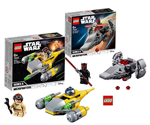 Star Wars Lego 75224 Sith Infiltrator Microfighter + Lego 75223 Naboo Starfighter Microfighter