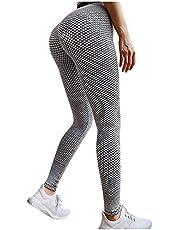MORCHAN TikTok leggings med hög midja, Bubble Yogabyxor för kvinnor Butt Lift, Tummy Control Booty Slim Workout Tights Running Gym Kläder