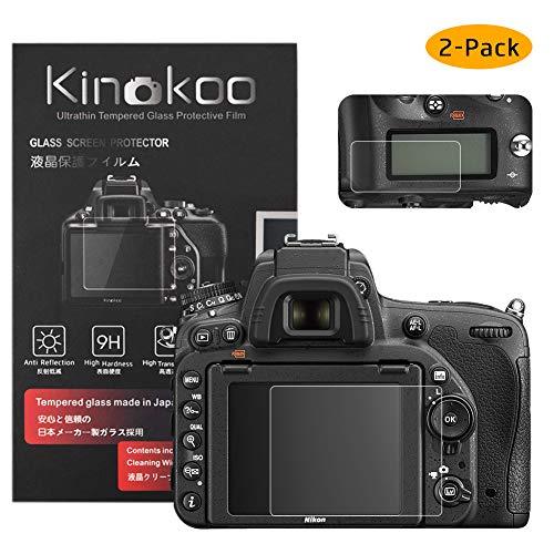 kinokoo Película de Vidrio Templado para Nikon D750 Crystal Clear Film Protector de Pantalla Nikon D750 con Protector de Pantalla Superior (Paquete de 2)