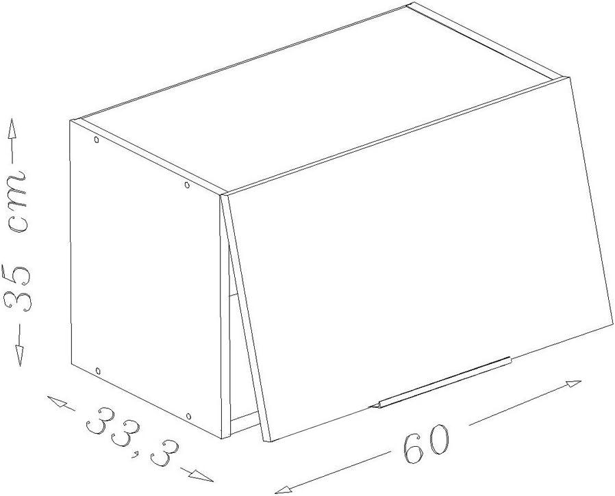 Hochglanz-Wei/ß 80 x 34 x 35 cm Berlioz Creations Oberschrank K/üche T/ür
