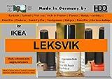 Crayon de couleur Vernis Stylet Touch Up Pen for IKEA LEKSVIK Black