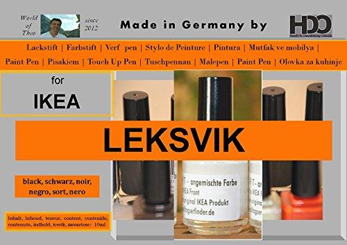 HDO Farbstift Lackstift Touch-up-Pen for Ikea Leksvik Black