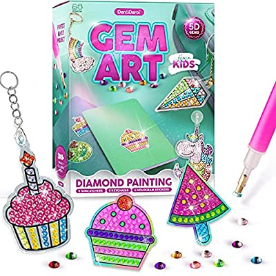 Gem Art, Kids Diamond Painting Kit - Big 5D Gems - Arts and Crafts for Kids, Girls and Boys Ages 6-12 - Gem Painting Kits - Best Tween Gift Ideas for Girls Crafts Age 4, 5, 6, 7, 8, 9, 10-12 from Dan&Darci