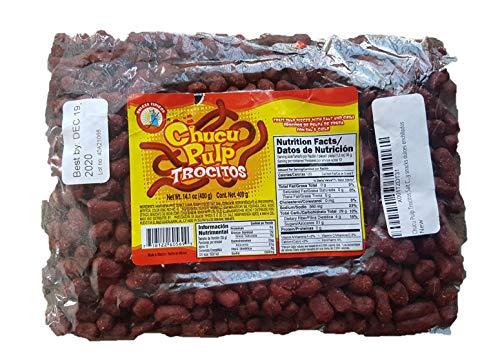 Chucu Pulp Trocitos Salt Chili Hawthorn Candy (400g / 14.1 oz) Tejocote Chile Tamarind Flavored Candy snacks dulces enchilados