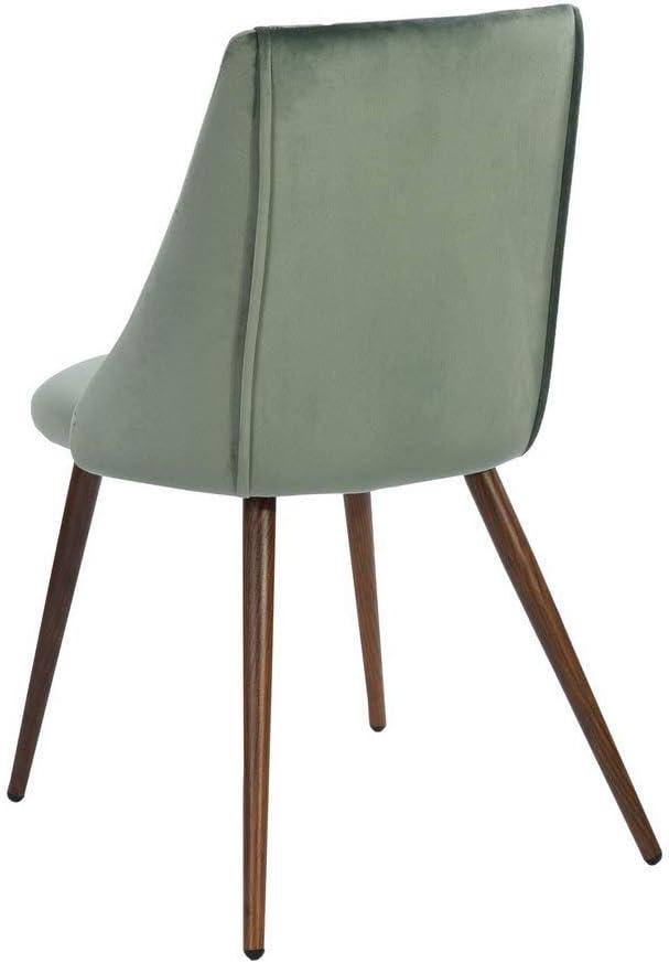 Fanilife Chaises de Salle à Manger Ensemble de 2 chaises de Salle à Manger avec siège en Tissu et Pieds en métal pour Le Bureau à Domicile Cactus