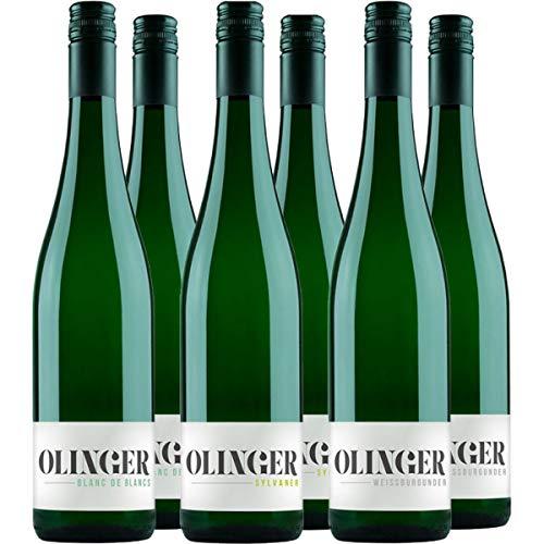 3 Rebsorten Weißweinpaket (6 x 0.75 l) | Blanc de Blancs, Silvaner und Weißburgunder vom Winzer Olinger