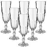 Libbey 12er Set Hochwertige Sektgläser Champagnergläser aus Glas - max. 160ml - spülmaschinenfest - ohne Füllstrich
