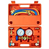 Orion Motor Tech 3 Way AC Diagnostic Manifold Gauge Set for Freon Charging, Fits R134A R12 R22 and...