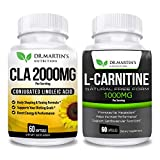 L Carnitine & CLA Bundle - 2 Supplements | Active Conjugated Linoleic Acid for Weight Management | Boost Your Metabolism and Increase Performance | for Men and Women