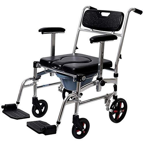 Gpzj Rollstuhl , Rollstuhl Älterer Toilettenstuhl Schwangere Frau Toilette Behinderter Hocker Stuhl Home Mobiler Toilettenhocker Light Belt Wheel