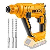 INGCO 20V Lithium-Ion <span class='highlight'>Rotary</span> <span class='highlight'>Hammer</span> <span class='highlight'>Drill</span> with 3pcs SDS-Plus <span class='highlight'>Drill</span> Bits (Body only) CRHLI1601