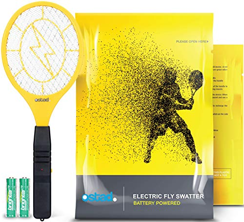 3000 Volt Electric Fly Swatter Mini Bug Zapper...