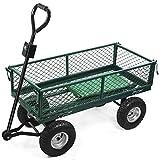 Sofatbed Heavy Duty Large Garden Trolley Cart Truck Utility Wagon Wheelbarrow Load Capacity