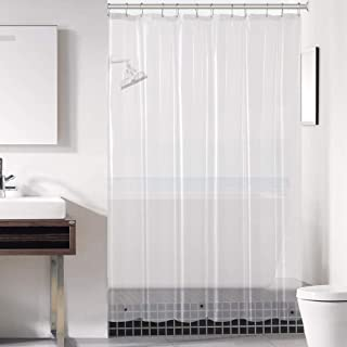 Downluxe Clear Shower Curtain Liner 72x72 - PEVA 3 Gauge...